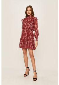 Brązowa sukienka ANSWEAR mini, casualowa