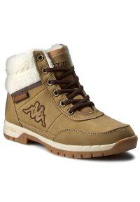 Brązowe buty trekkingowe Kappa z cholewką