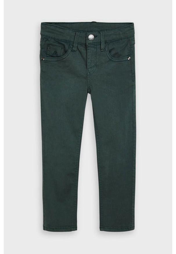 Zielone jeansy Mayoral w kolorowe wzory