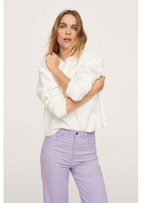 mango - Mango - Spodnie Julie. Okazja: na co dzień. Stan: podwyższony. Kolor: fioletowy. Materiał: włókno. Styl: casual