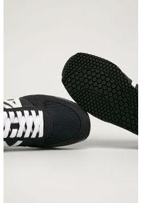 Czarne sneakersy Armani Exchange z okrągłym noskiem, z cholewką