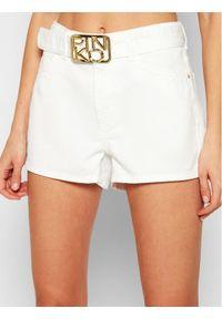 Białe szorty jeansowe Pinko