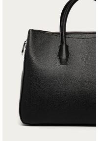 Czarna shopperka Silvian Heach duża, klasyczna, gładkie