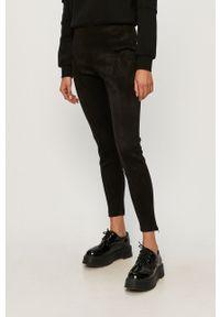 Czarne spodnie materiałowe Noisy may z podwyższonym stanem