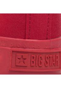 Czerwone półbuty Big-Star z cholewką, na co dzień, casualowe