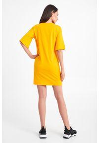 Emporio Armani Swimwear - SUKIENKA EMPORIO ARMANI SWIMWEAR. Materiał: bawełna. Wzór: napisy. Typ sukienki: proste. Długość: mini