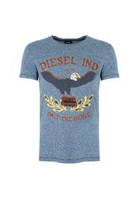 """Diesel T-shirt """"T-Diego-RP"""". Okazja: na co dzień. Materiał: bawełna. Wzór: nadruk. Styl: casual"""