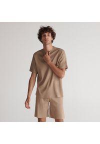 Reserved - Piżama dwuczęściowa - Beżowy. Kolor: beżowy