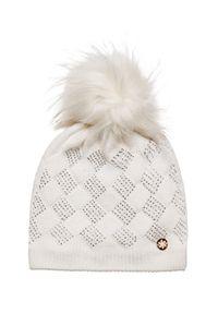 Biała czapka Granadilla z aplikacjami