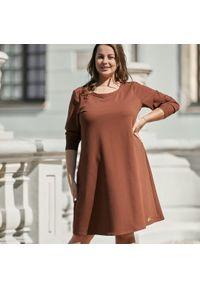 Sukienka dla puszystych Moda Size Plus Iwanek elegancka, na imprezę
