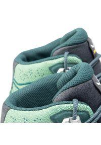 Zielone buty trekkingowe Salewa z cholewką
