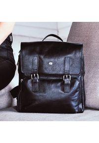 DAAG Jazzy Party 58 skórzany plecak w kolorze czarnym. Kolor: czarny. Materiał: skóra. Styl: casual, młodzieżowy