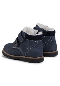 Niebieskie buty zimowe Action Boy z cholewką