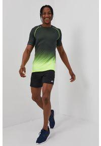 4f - 4F - T-shirt. Okazja: na co dzień. Kolor: zielony. Materiał: włókno, dzianina. Styl: casual