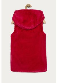 Różowa kamizelka Guess Jeans casualowa, na co dzień, z kapturem