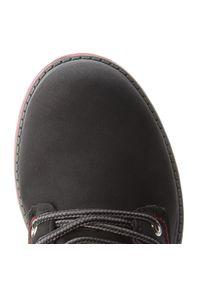 Czarne buty zimowe Big-Star na spacer, z cholewką