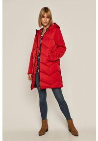 Czerwony płaszcz medicine casualowy, na co dzień