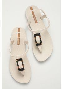 Beżowe sandały Ipanema bez obcasa, gładkie #4