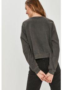 Answear Lab - Bluza bawełniana. Kolor: szary. Materiał: bawełna. Długość rękawa: długi rękaw. Długość: długie. Wzór: aplikacja. Styl: wakacyjny