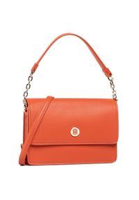 Torebka TOMMY HILFIGER - Honey Shoulder Bag AW0AW08803 SNC. Kolor: pomarańczowy. Materiał: skórzane. Styl: klasyczny