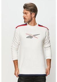 Biała bluza nierozpinana Reebok Classic bez kaptura, z aplikacjami