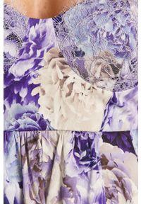 Fioletowa sukienka Elisabetta Franchi na ramiączkach, casualowa, na co dzień, prosta