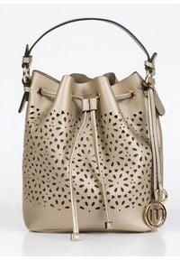 Złota torebka Monnari mała, w ażurowe wzory