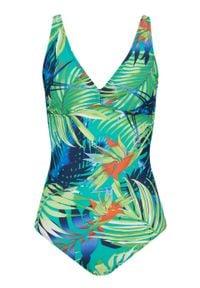Kostium kąpielowy Tall bonprix zielono-niebieski wzorzysty. Kolor: zielony