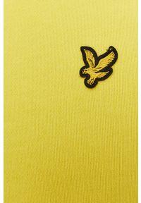 Żółta bluza nierozpinana Lyle & Scott na co dzień, z kapturem, gładkie