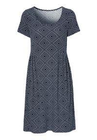 Niebieska sukienka mini Cellbes casualowa, z krótkim rękawem, na co dzień