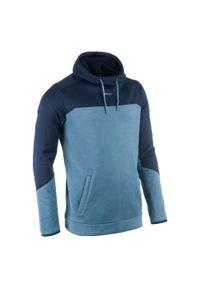 OFFLOAD - Bluza z kapturem do rugby R500 męska. Kolor: szary, niebieski, wielokolorowy. Materiał: poliester, materiał, bawełna