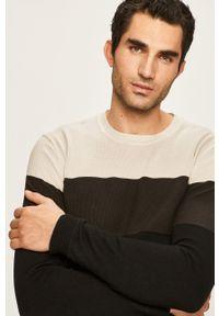 Szary sweter Only & Sons casualowy, na co dzień, z okrągłym kołnierzem