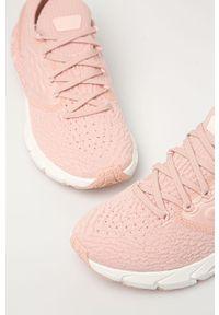 Różowe sneakersy Under Armour na sznurówki, z cholewką, na niskim obcasie, na obcasie