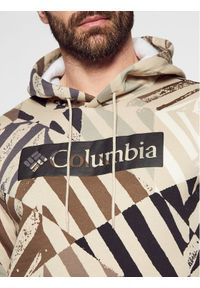 columbia - Columbia Bluza Logo Printed 1911652 Beżowy Regular Fit. Kolor: beżowy