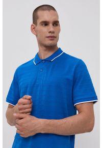 Tom Tailor - Polo. Okazja: na co dzień. Typ kołnierza: polo. Kolor: niebieski. Długość: krótkie. Styl: casual