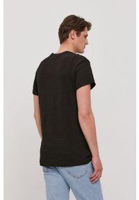 G-Star RAW - G-Star Raw - T-shirt. Okazja: na co dzień. Kolor: czarny. Wzór: nadruk. Styl: casual