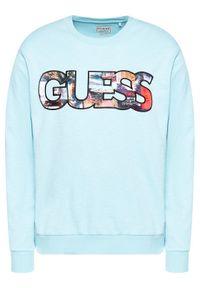 Guess Bluza M1GQ57 KAMY0 Niebieski Regular Fit. Kolor: niebieski