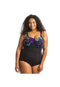 NABAIJI - Strój jednoczęściowy do gimnastyki w wodzie damski Nabaiji Mary Yuka. Kolor: czarny. Materiał: poliester, poliamid, materiał, elastan