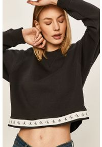 Czarna bluza Calvin Klein Jeans na co dzień, casualowa, bez kaptura