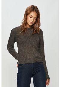 Szary sweter Jacqueline de Yong z długim rękawem, długi