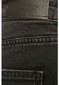 Czarne jeansy bootcut Scotch & Soda z podwyższonym stanem
