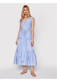 Niebieska sukienka letnia Luisa Spagnoli