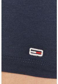Niebieski top Tommy Jeans casualowy, na co dzień