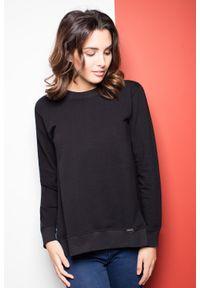 Czarna bluzka z długim rękawem Katrus