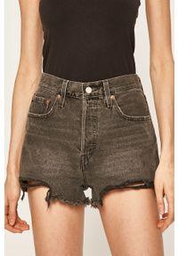 Levi's® - Levi's - Szorty jeansowe. Okazja: na co dzień, na spotkanie biznesowe. Kolor: szary. Materiał: jeans. Styl: casual, biznesowy