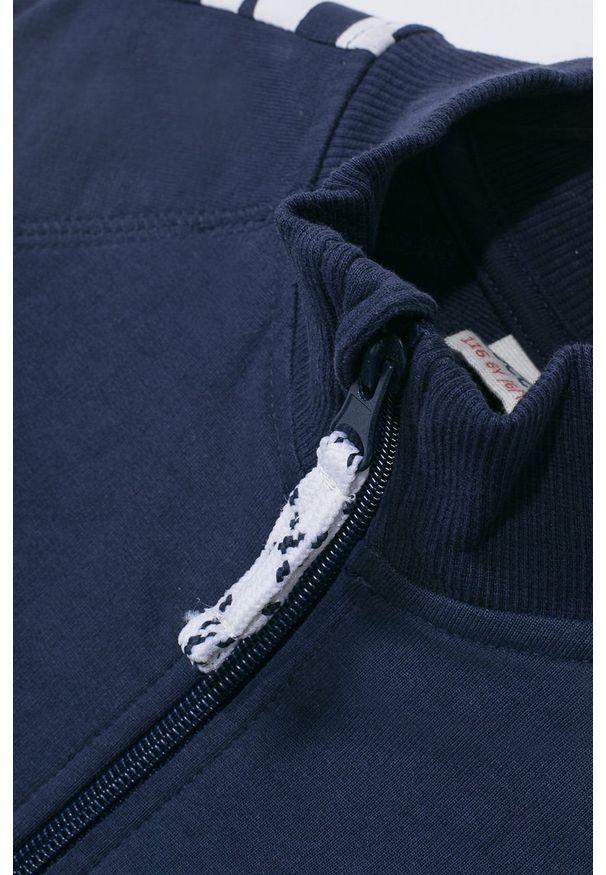 Niebieska bluza rozpinana COCCODRILLO raglanowy rękaw, z nadrukiem, bez kaptura