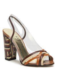 Brązowe sandały Azurée