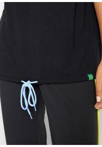 Czarna bluza bonprix krótka, melanż, z krótkim rękawem