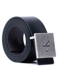 Calvin Klein - Pasek Męski CALVIN KLEIN - Square Plaque Rey Belt 38Mm K50K506552 Black/Bitter Brown 01K. Kolor: czarny, wielokolorowy, brązowy. Materiał: skóra