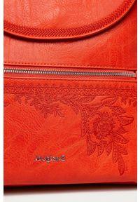 Desigual - Plecak. Kolor: pomarańczowy